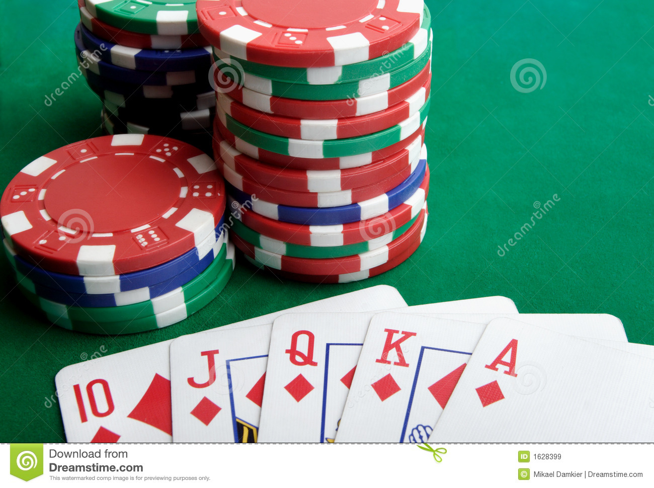 Playing Cards And Gambling Chips Stock Image Image 1628399