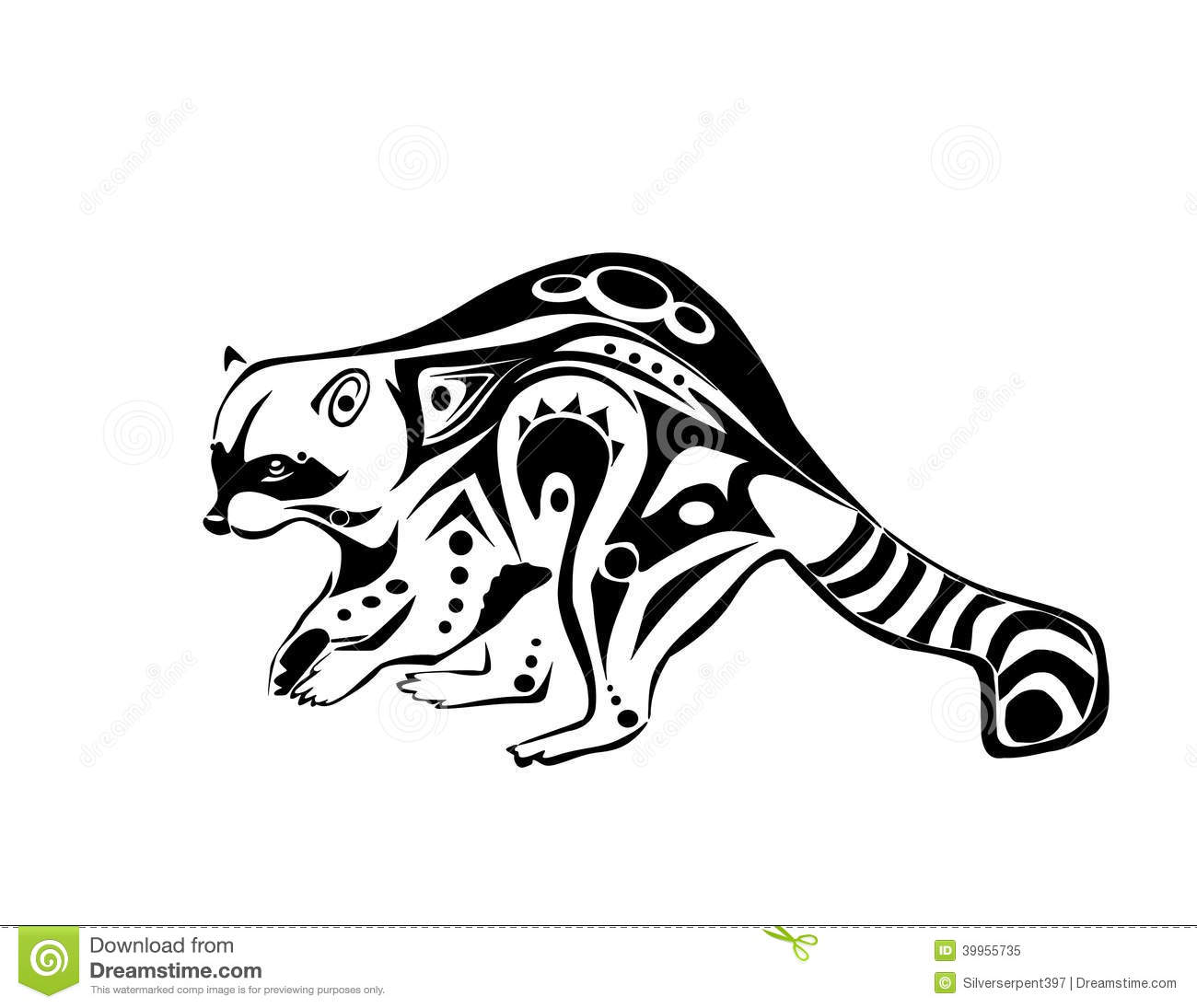 Plotting Raccoon Stock Vector