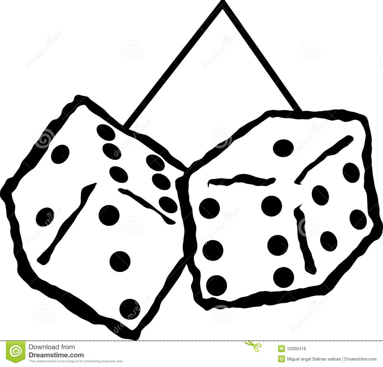 Plush Hanging Dices Vector Illustration Royalty Free Stock
