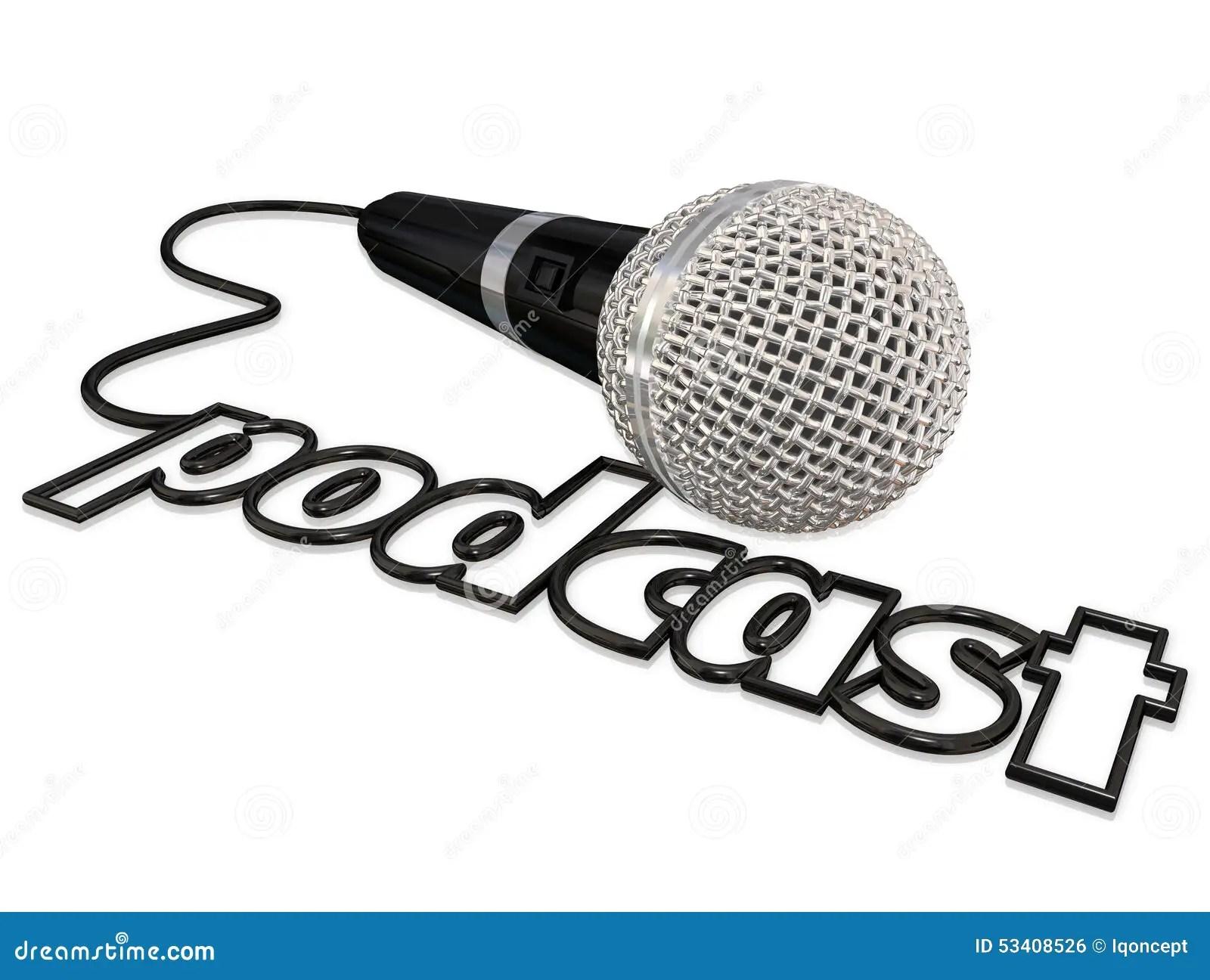 Podcast Schnur Mikrofon Kommunikation Meinung