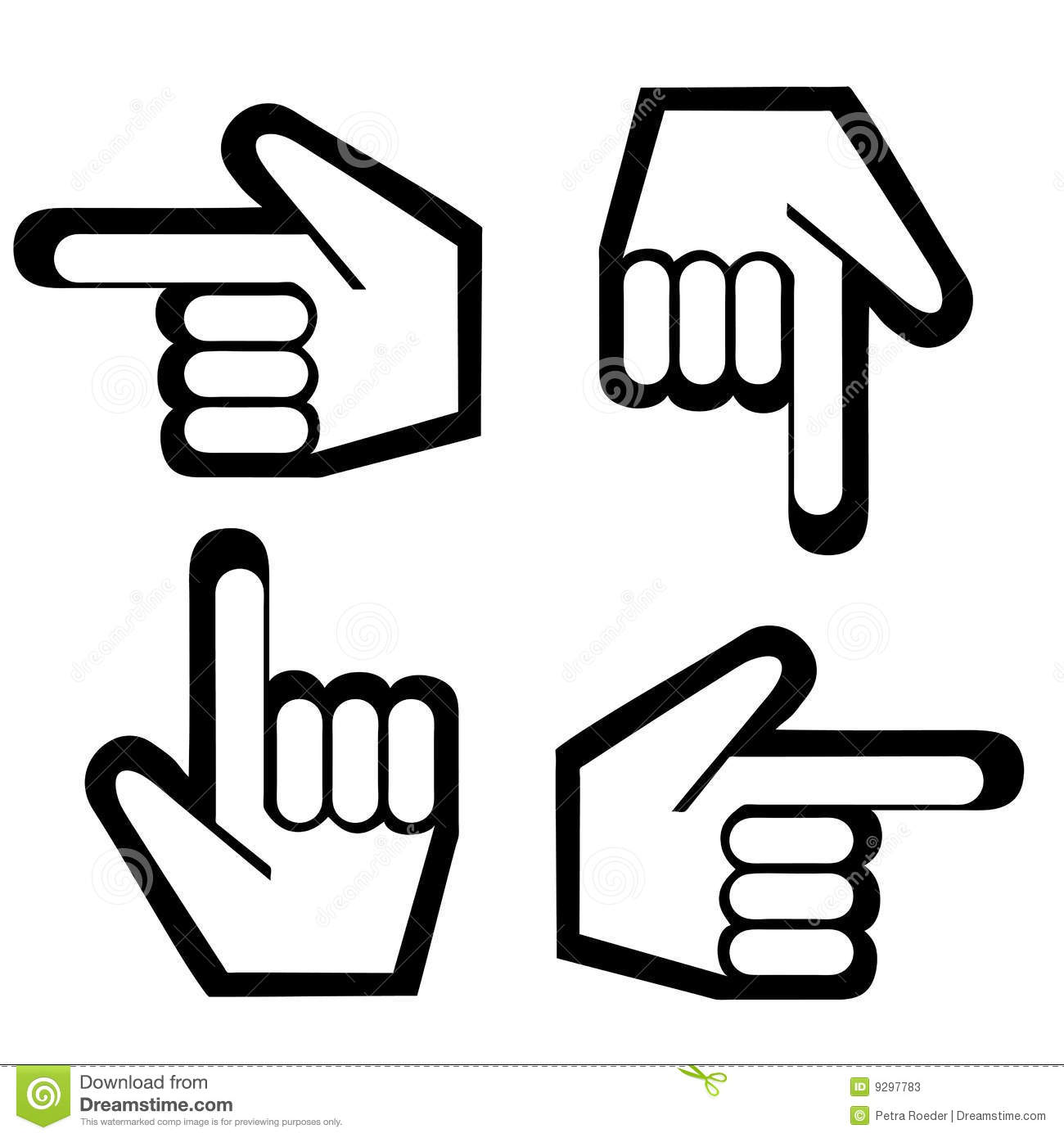 Pointing Finger Graphic Stock Vector Illustration Of