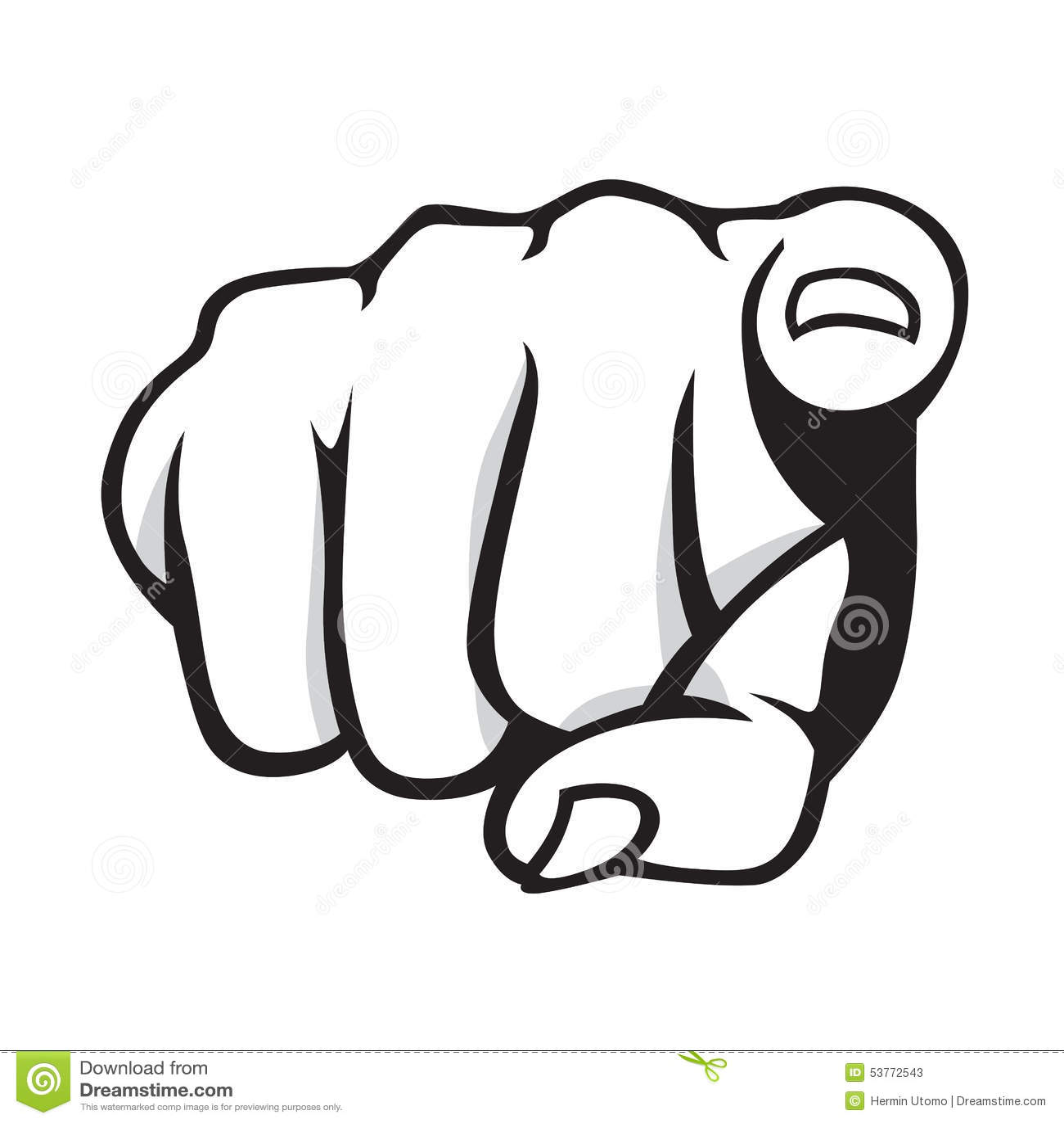 Pointing Finger Stock Vector