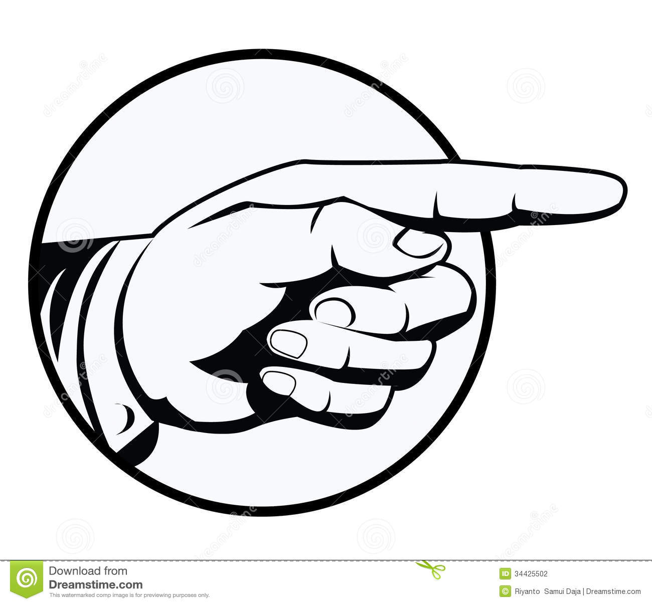 Pointing Hand Stock Vector Illustration Of Pointing