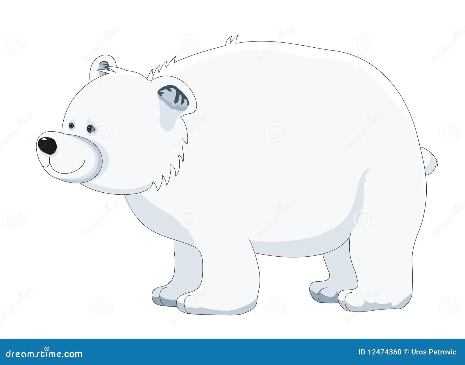 Polar Bear Cartoon Vector Illustration Stock Illustration