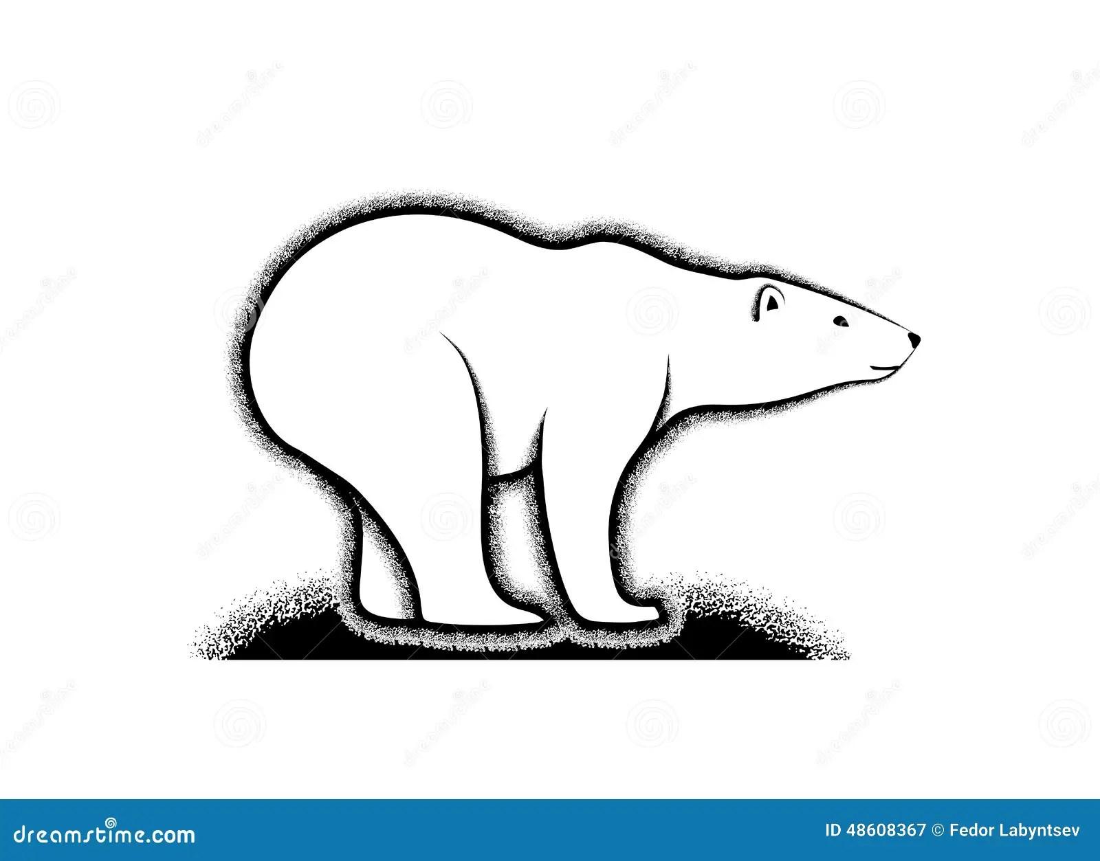 Polar Bear Symbol Of The Arctic Stock Vector