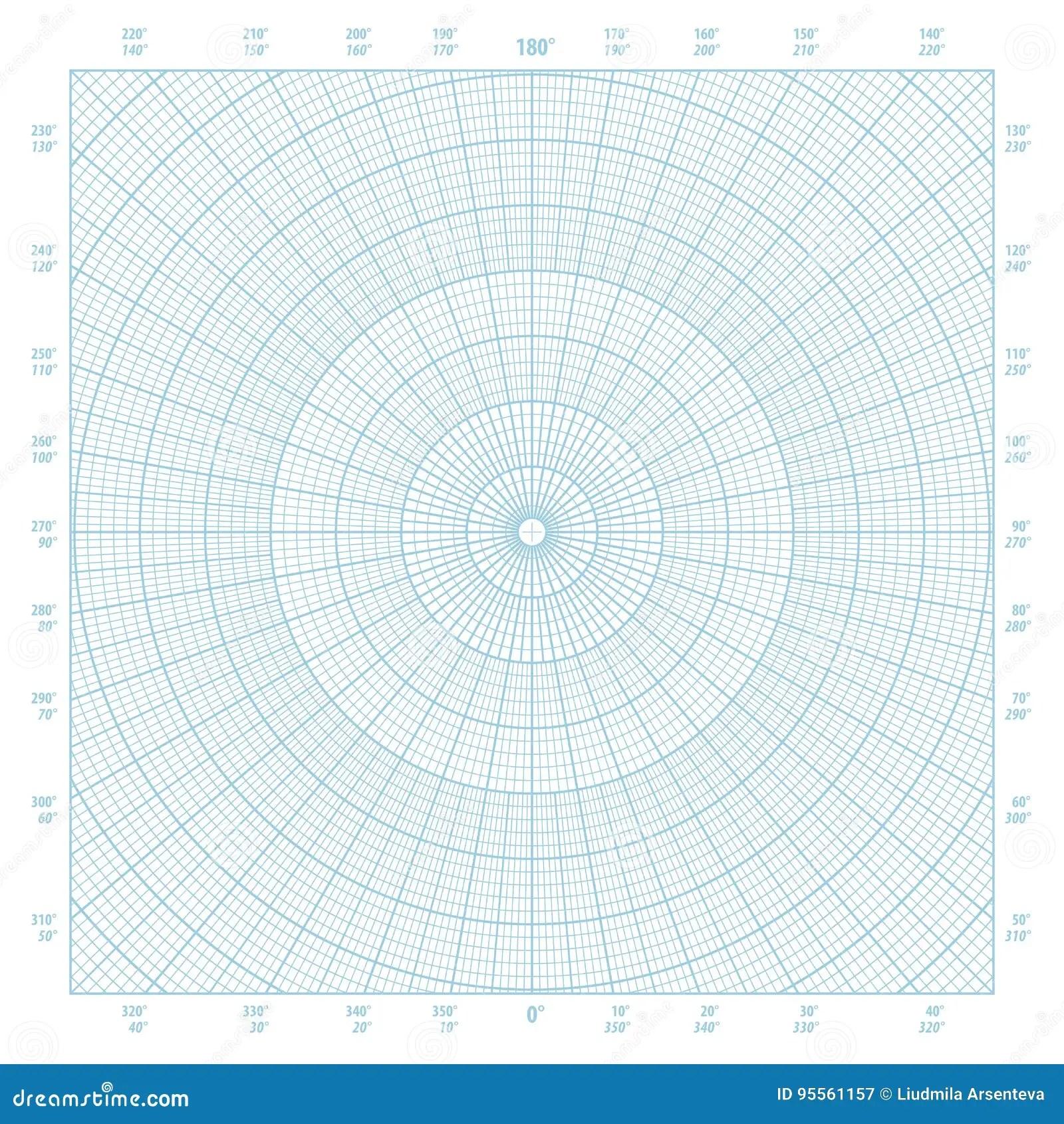Polar Coordinate Circular Grid Graph Paper Background