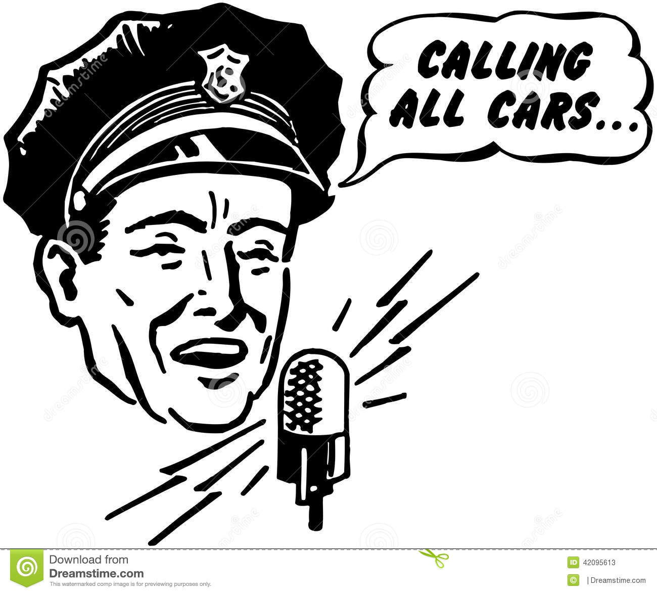 Police Dispatcher Stock Vector Image Of Careers Clip