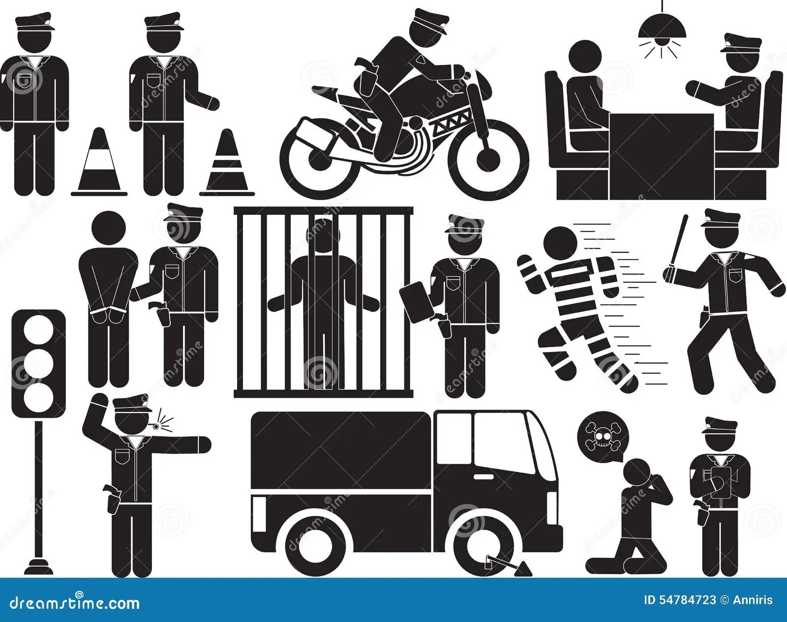 Police Stock Illustration