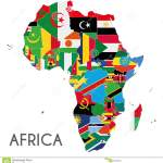 Political Africa Map Vector Illustration With The Flags Of All Countries Stock Vector Illustration Of Continent Background 92535861