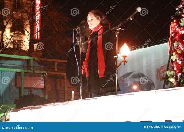 Politician Maria Gaidar Rally In Support For Natalia ...