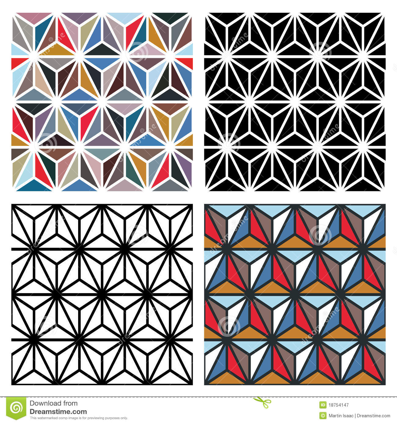 Polygon Patterns Royalty Free Stock Photography