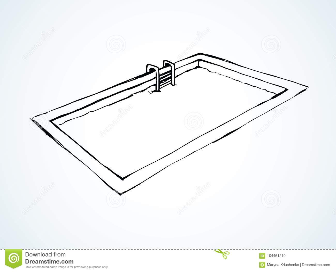 Pool Vector Drawing Stock Vector Illustration Of