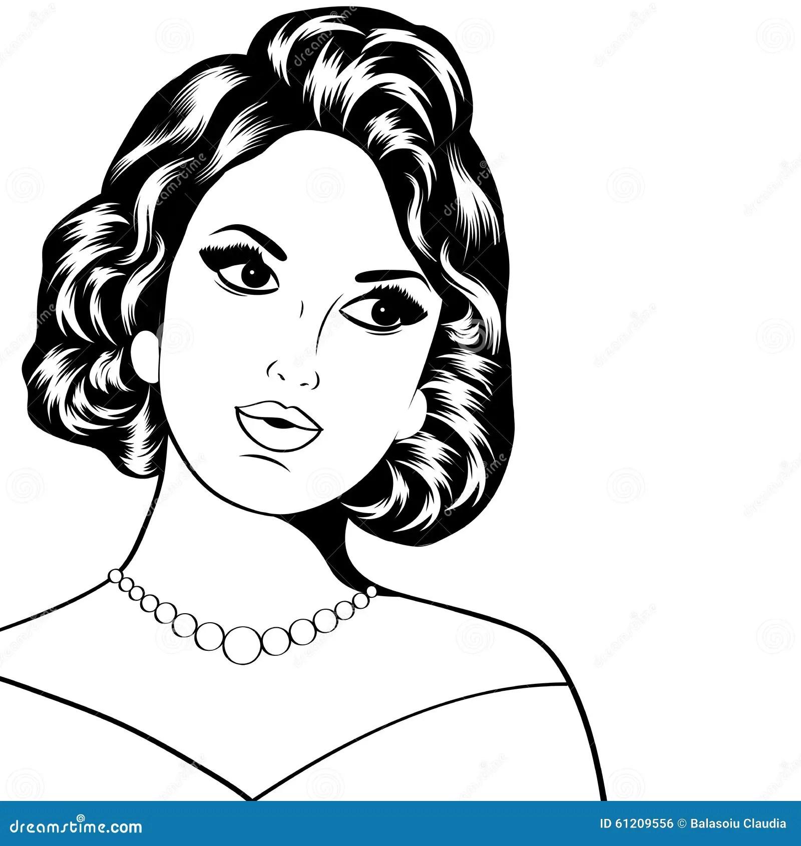 Pop Art Illustration Of Woman Stock Vector