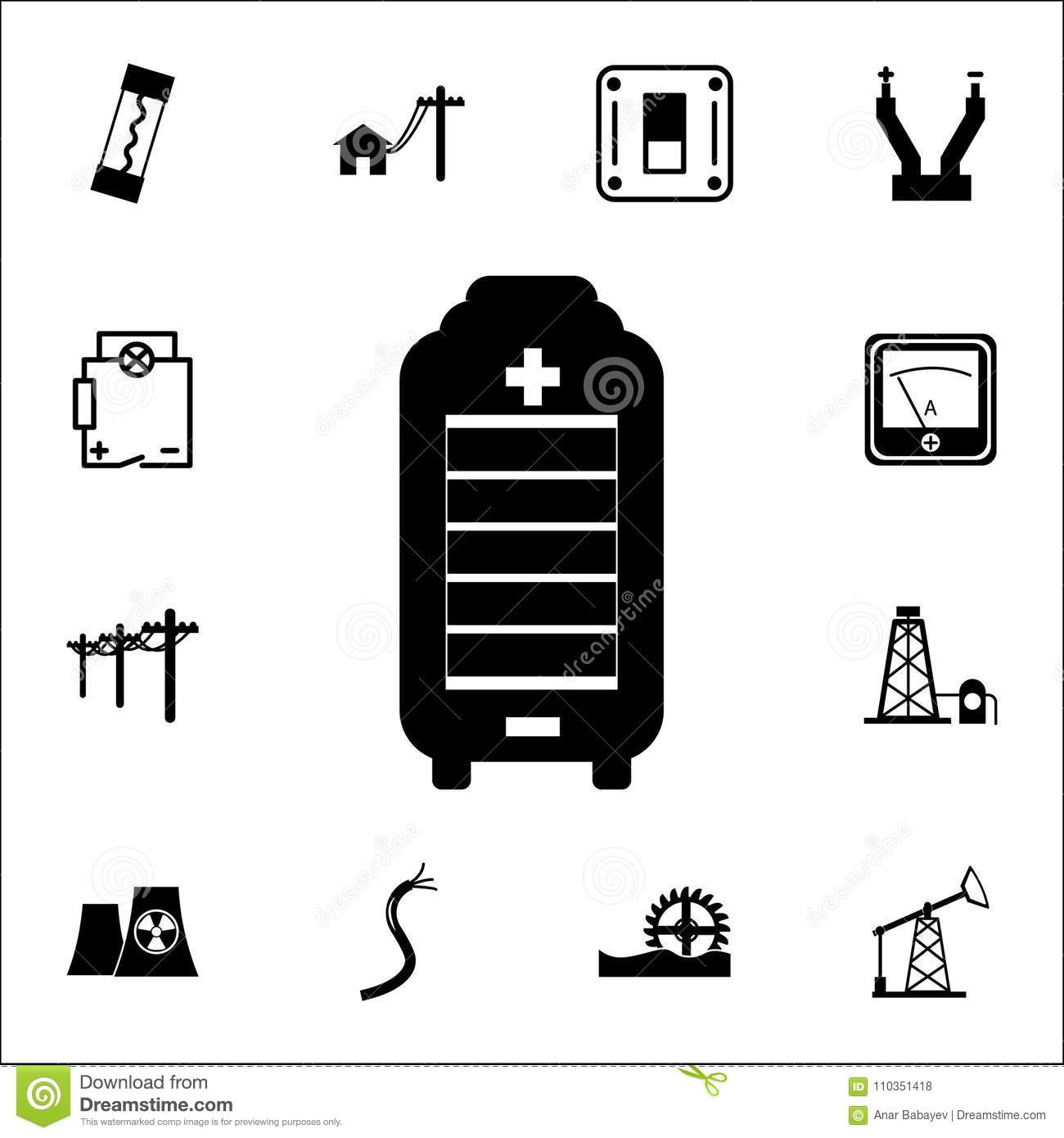 Portable Solar Charger Icon Set Of Energy Icons Premium