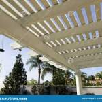 Portico Awning Wooden Sun Shade Ove Back Porch Stock Photo Image Of Outside Awning 182155820