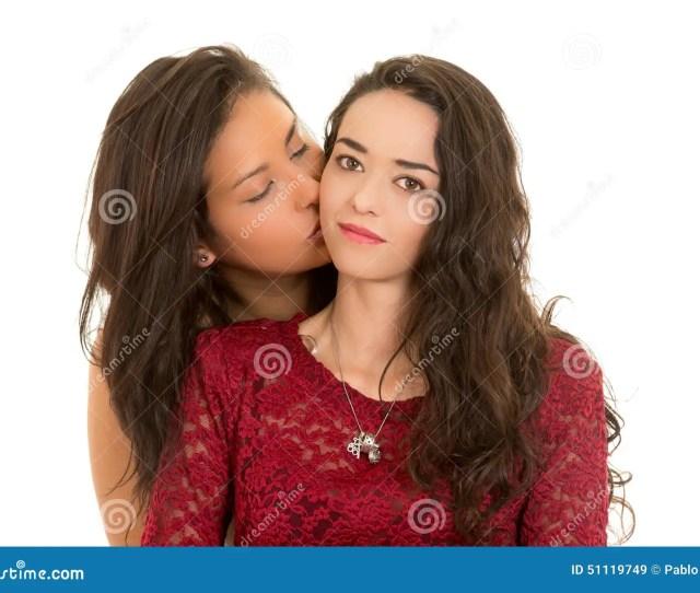 Portrait Of Beautiful Lesbian Couple In Love