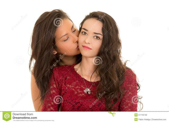 Portrait Of Beautiful Lesbian Couple In Love Download Preview