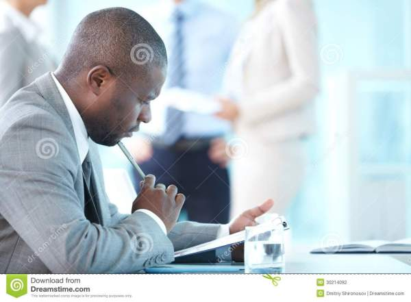 Pensive Leader Stock Photography - Image: 30214092