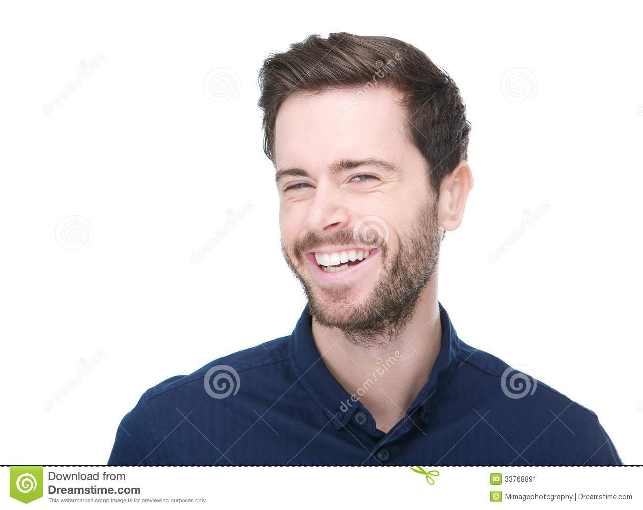 Portrait Of A Cheerful Young Man Smiling Stock Image