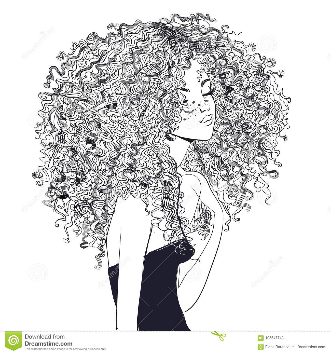 Curly Cartoons Illustrations Amp Vector Stock Images