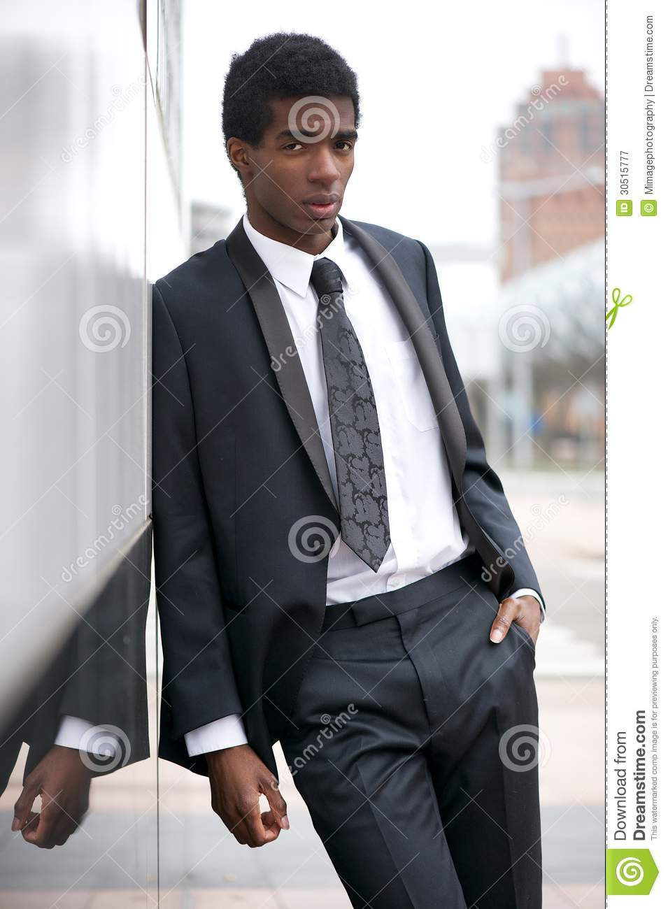 Portrait Of A Handsome Young African American Man Standing