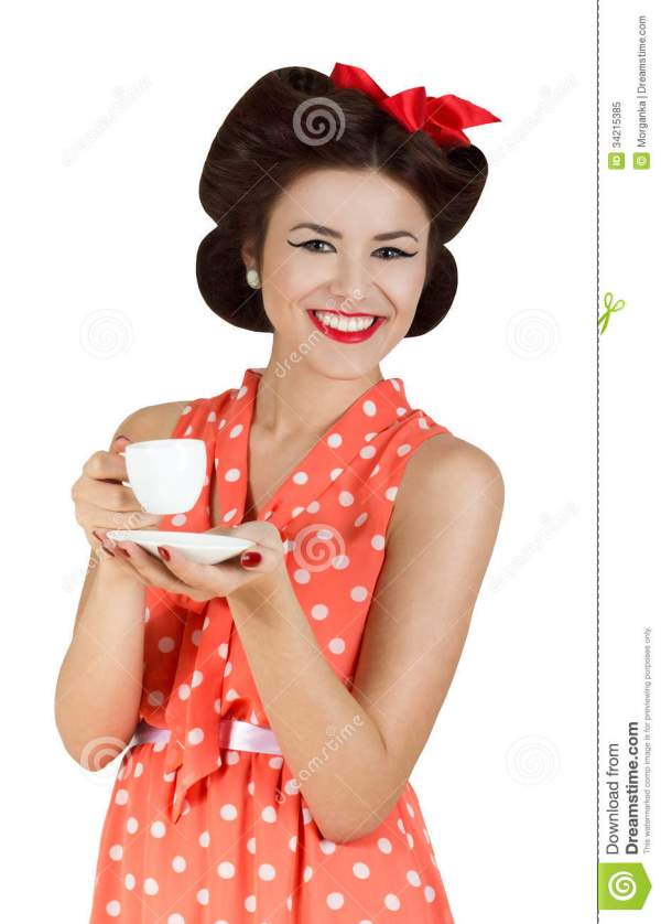 Portrait Of Pin-up Style Woman Stock Image - Image of ...