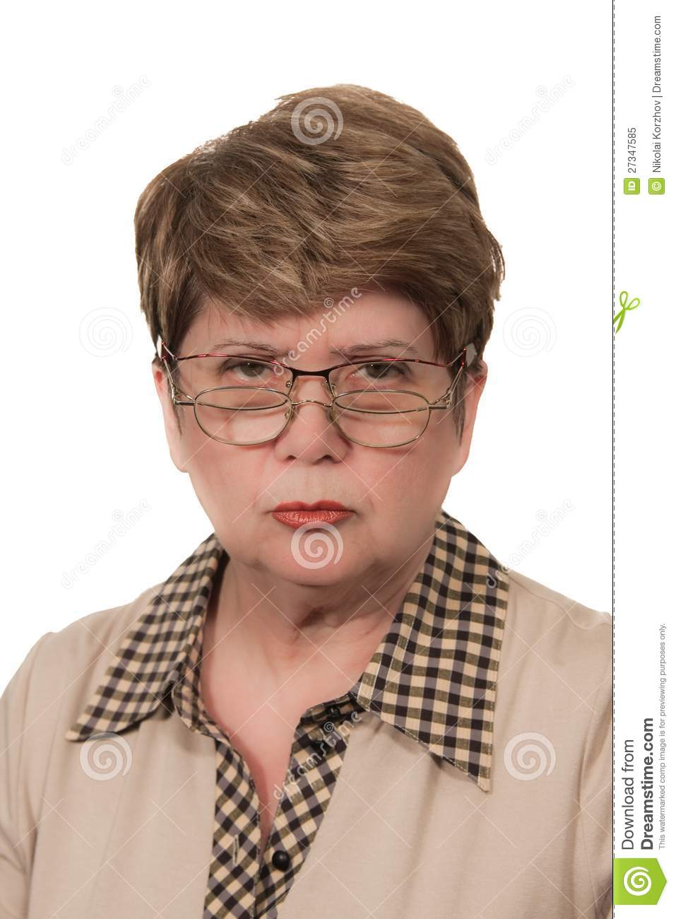 Portrait Of Strict Woman Stock Image Image Of Fifty