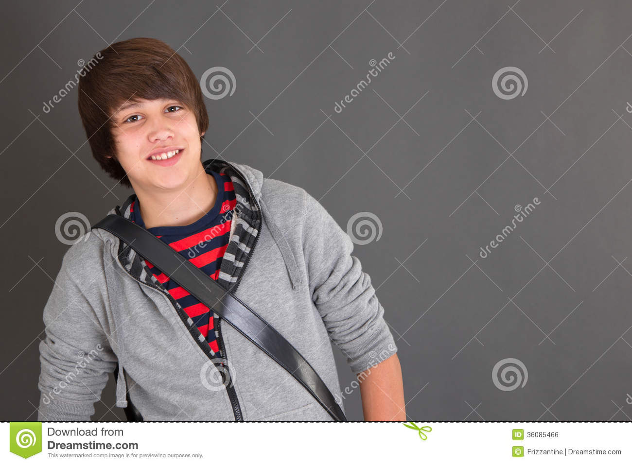 Portrait Of Young Boy In Puberty Stock Photo