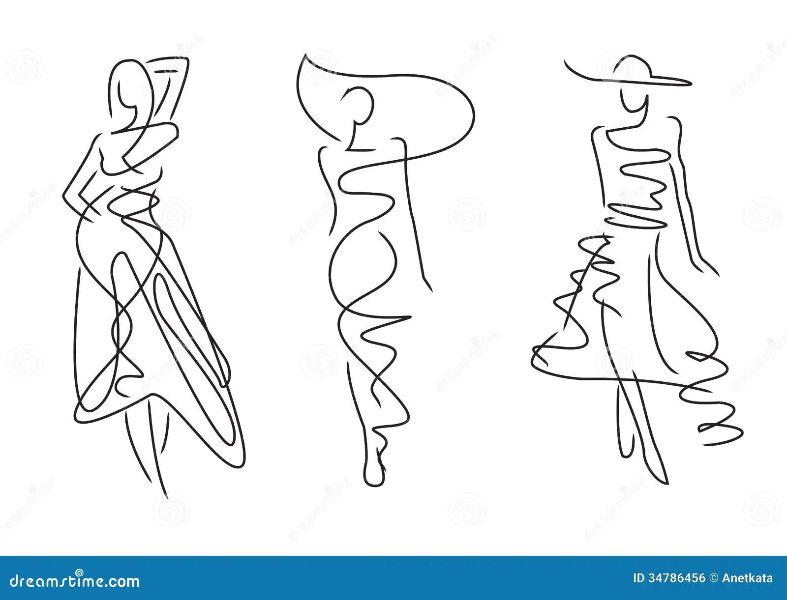 Poses Da Forma Do Esboco Ilustracao Do Vetor Ilustracao