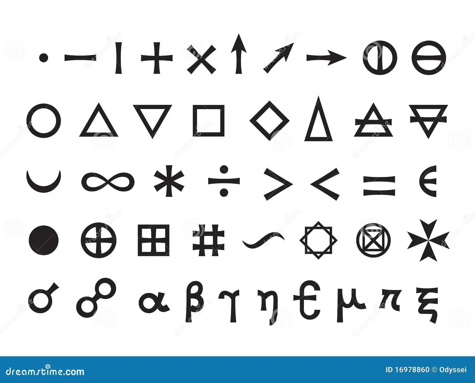 Positionnement De Symboles Mystique I Photo Stock