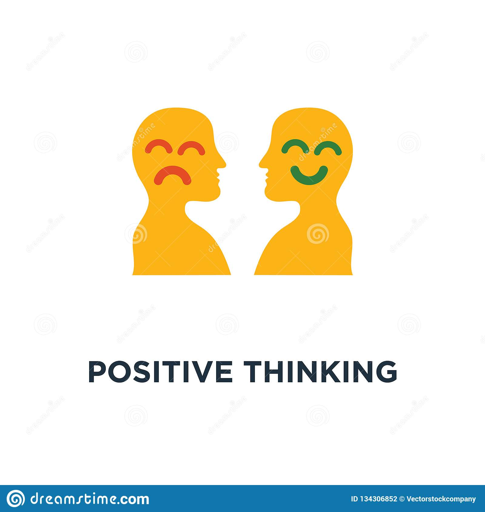 Positive Thinking Icon Negative Emotion Poor Service