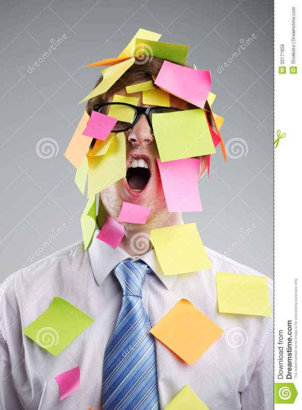 Post-it Man Royalty Free Stock Images - Image: 33171859