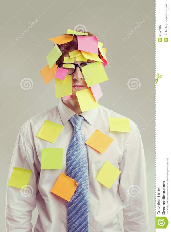 Post-it Man Royalty Free Stock Images - Image: 34897529