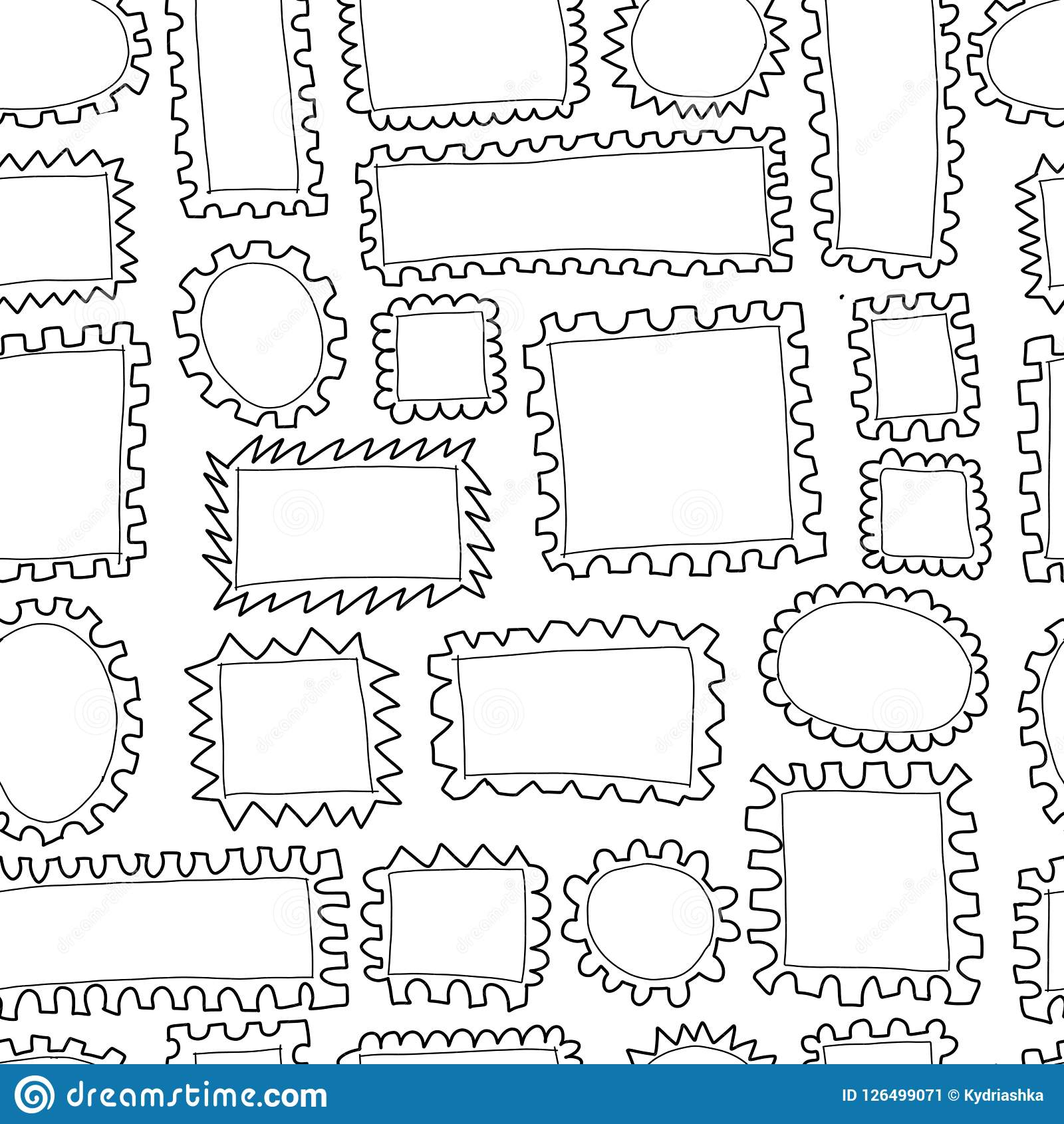 Post Stamp Collection Seamless Pattern For Your Design