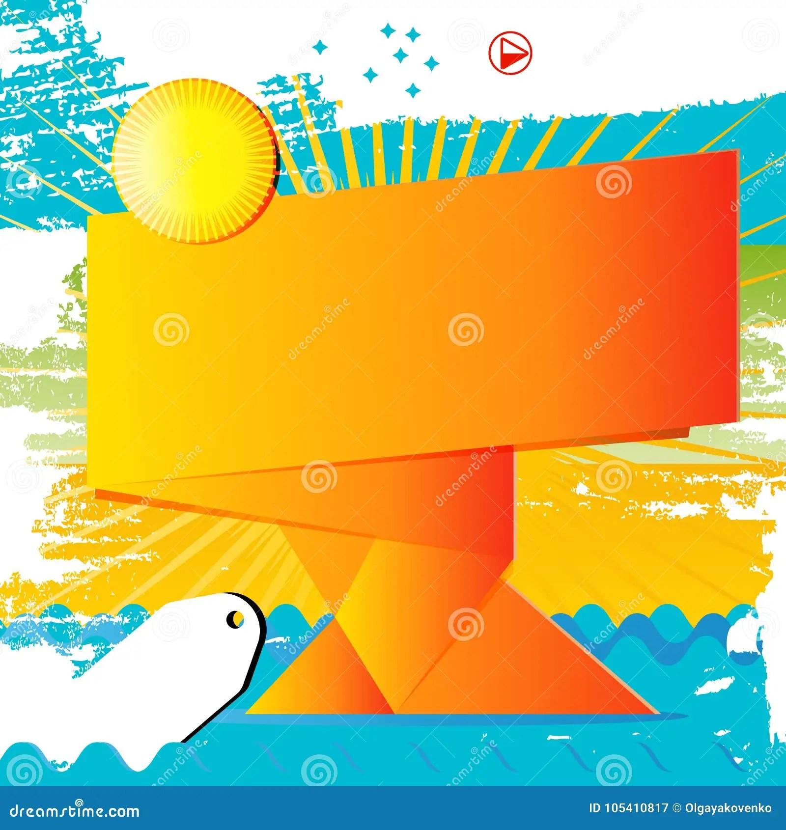 https www dreamstime com poster sale design template orange banner background sun vector whit colors offer print promotion discount illustration place image105410817