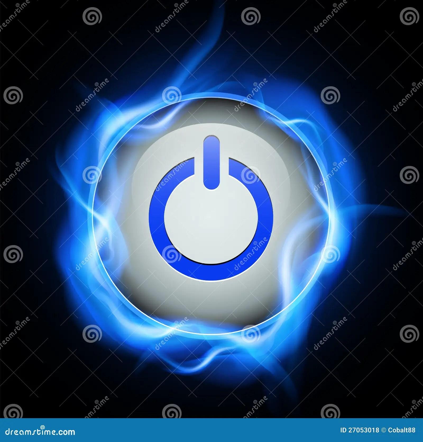Power Button Design Stock Vector Illustration Of Computer
