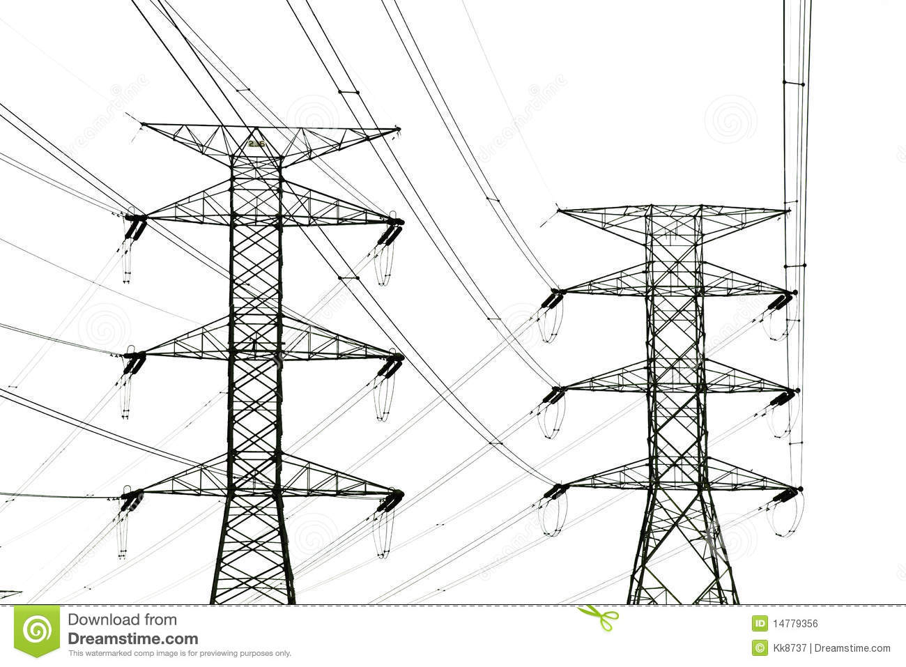 Power Tower And Power Lines Royalty Free Stock Image
