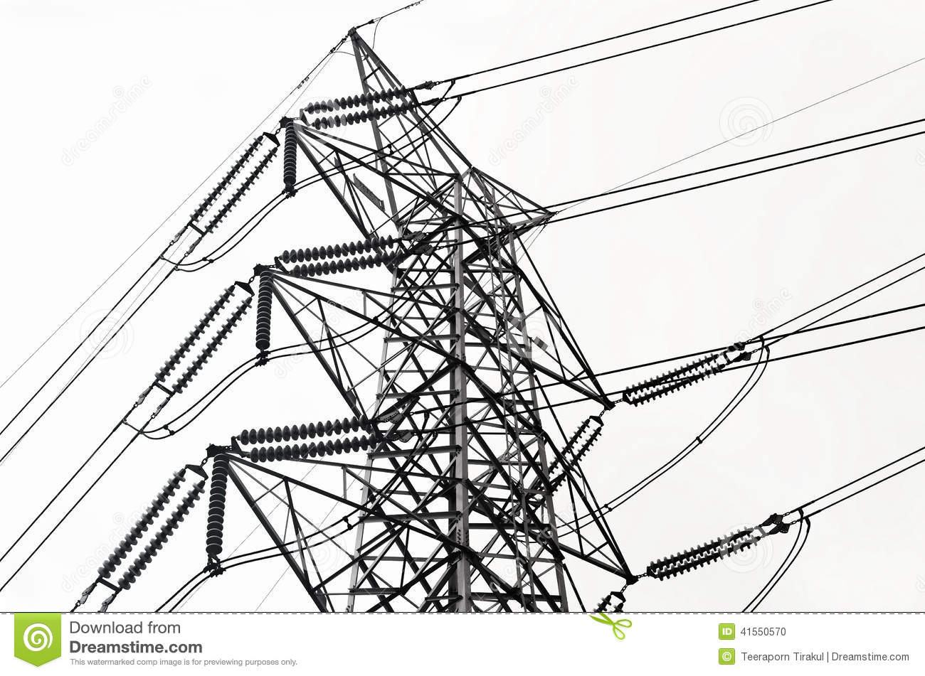 Power Transmission Lines Stock Photo Image Of Electrical