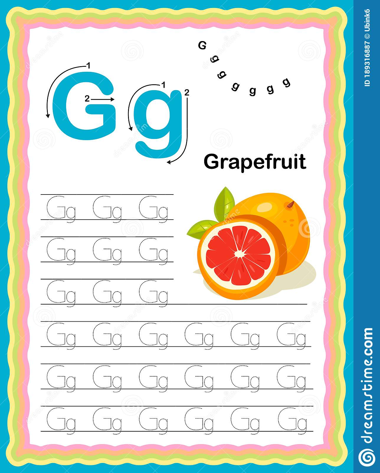 Preschool Colorful Letter K Uppercase And Lowercase