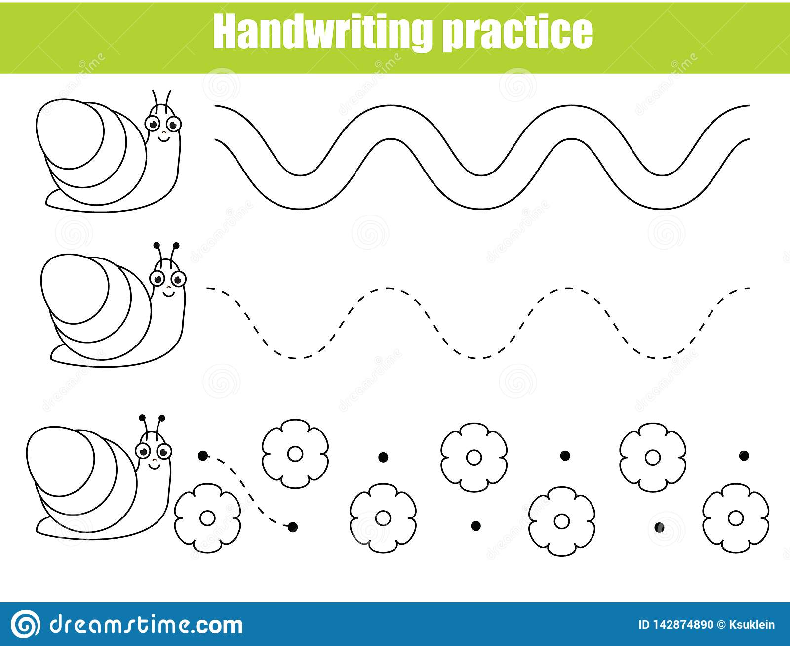 Preschool Handwriting Practice Sheet Educational Children Game Printable Worksheet For Kids