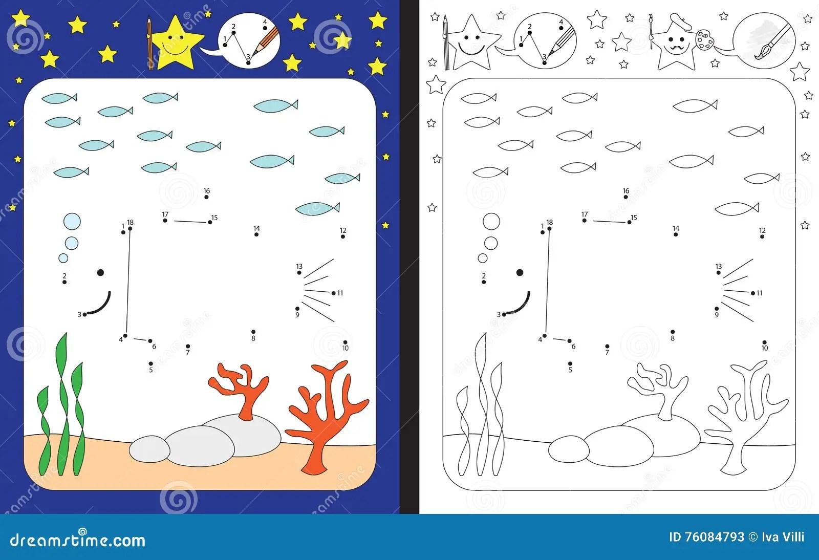 Preschool Worksheet Stock Vector Illustration Of Drawing