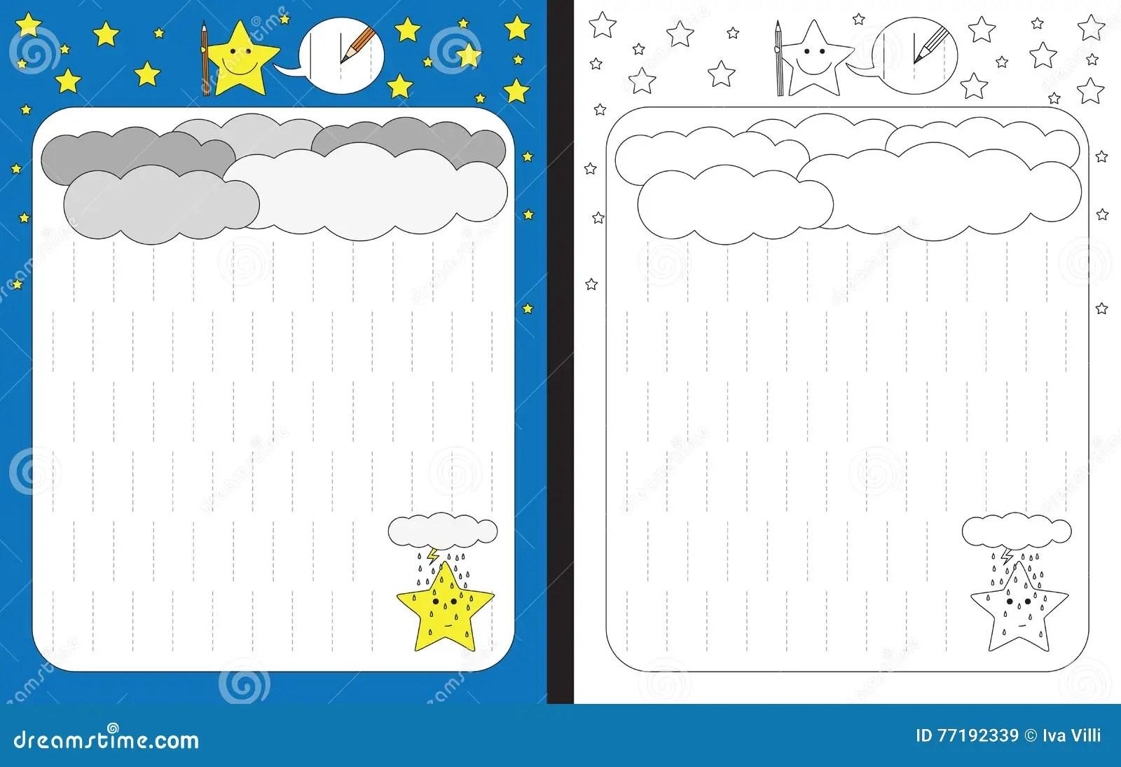 Preschool Worksheet Stock Vector Illustration Of Fine
