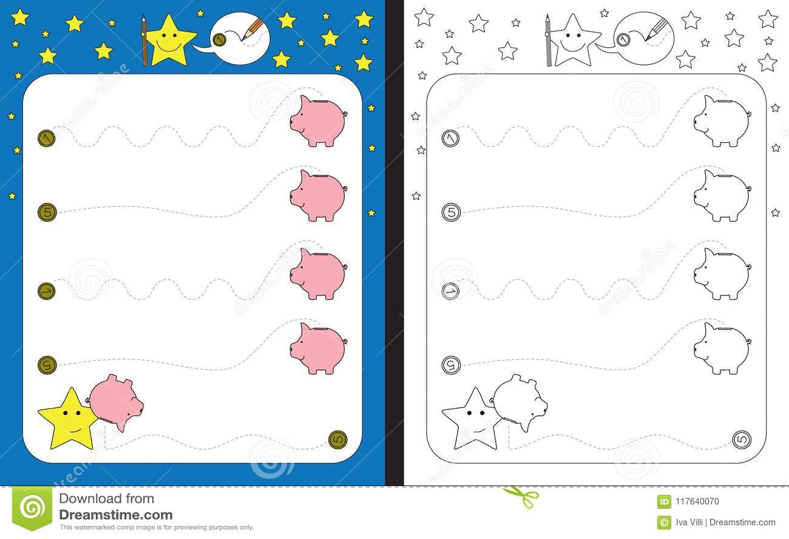 Preschool Worksheet Stock Illustration Illustration Of