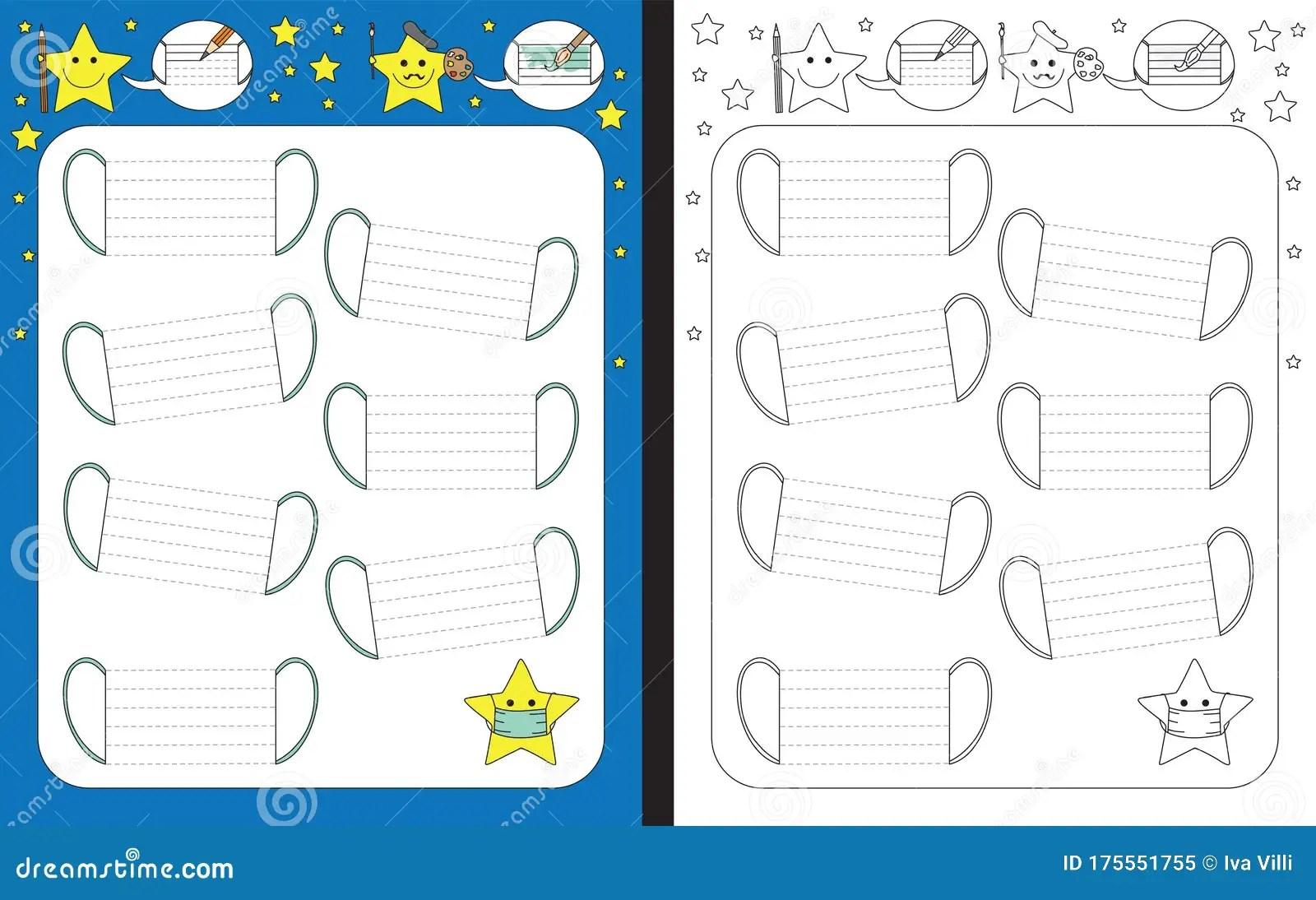 Preschool Worksheet Stock Vector Illustration Of Practice