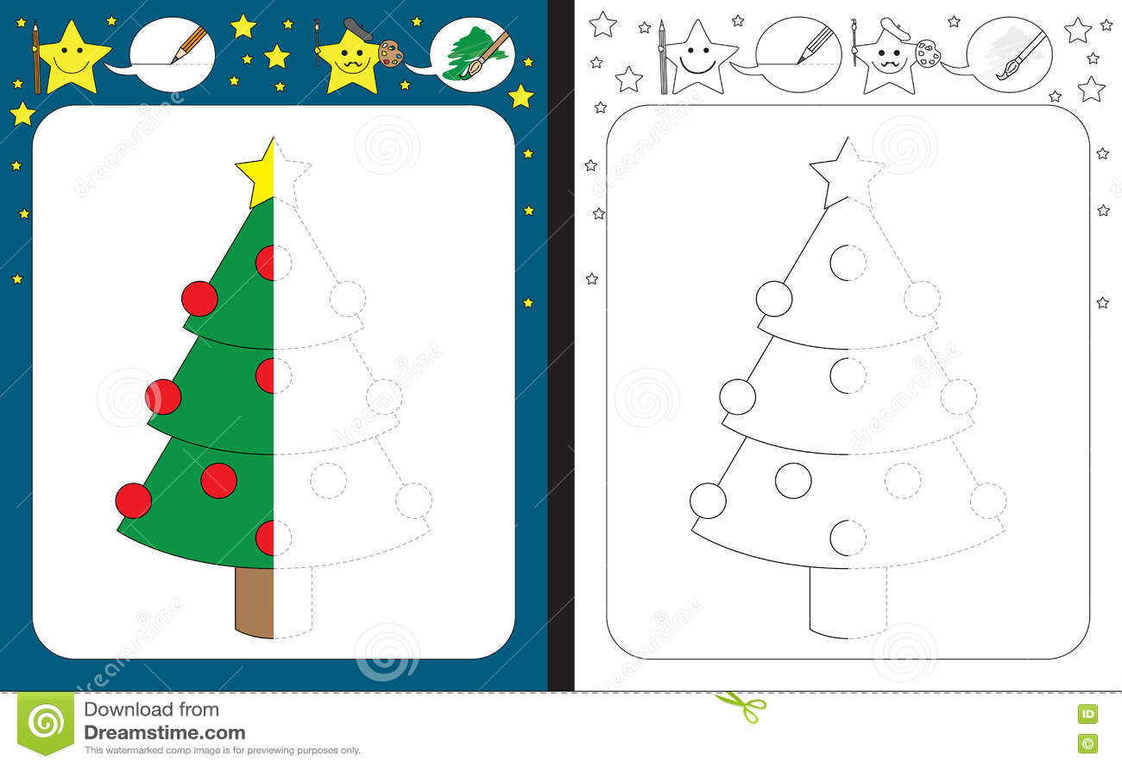 Preschool Worksheet Stock Vector Illustration Of Tracing