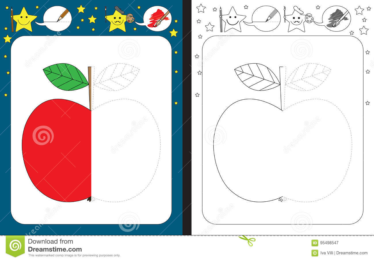 Preschool Worksheet Stock Vector Illustration Of Activity