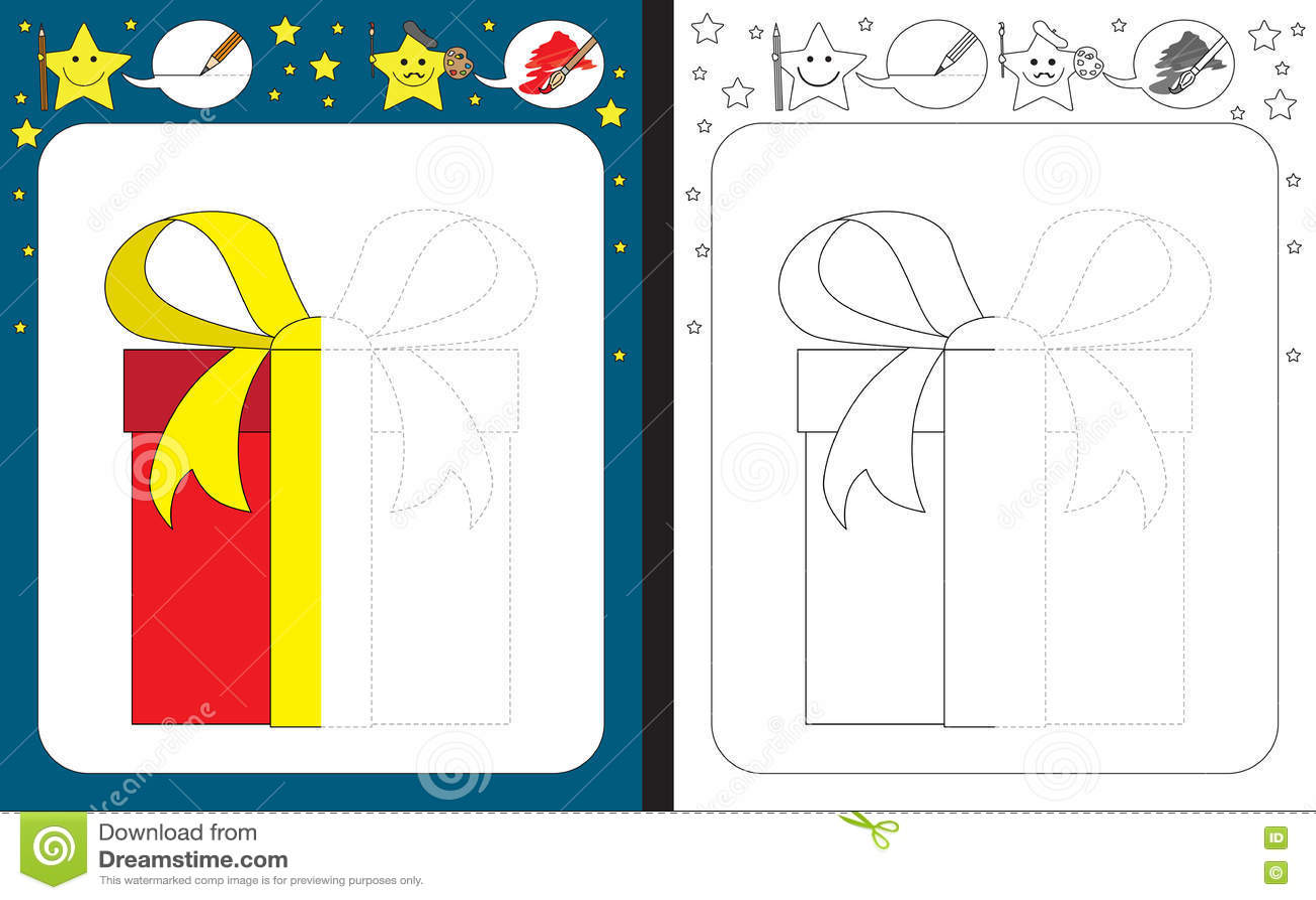 Preschool Worksheet Stock Vector Illustration Of Preschool