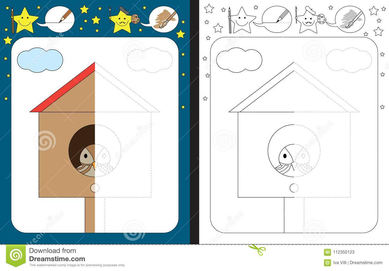 Preschool Worksheet Stock Vector Illustration Of Sheet