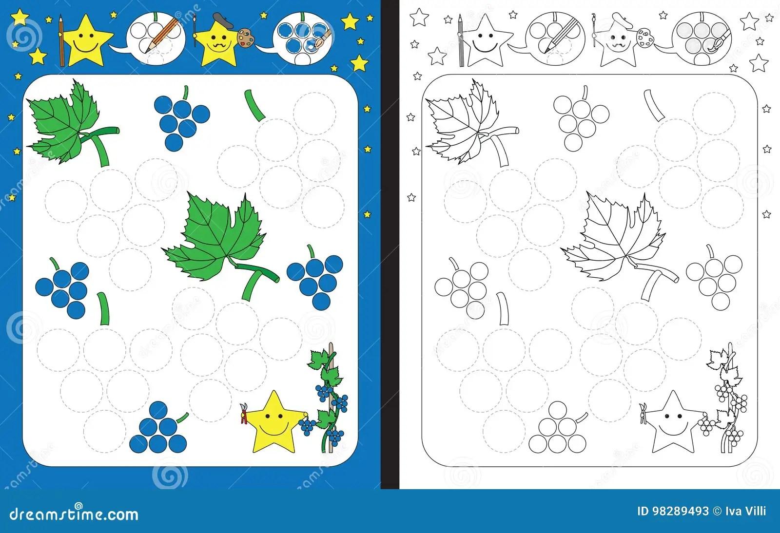 Preschool Worksheet Stock Vector Illustration Of Leaves