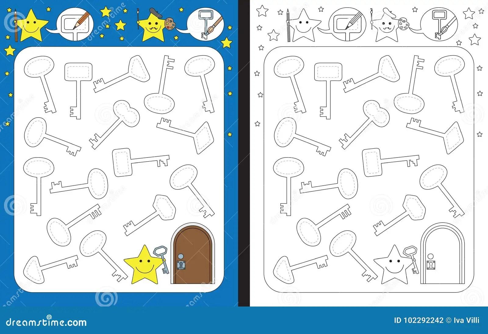 Preschool Worksheet Stock Vector Illustration Of Flowers